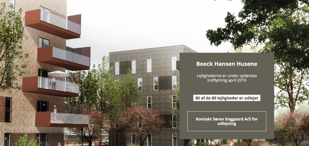 Boeck Hansen Husene med 80 lejligheder fuldt udlejet!
